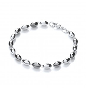 Ashanti Silver and Ruthenium Bracelet