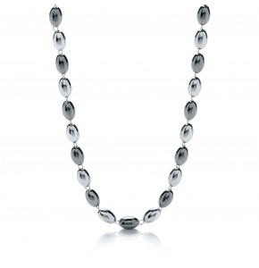 Ashanti Silver and Ruthenium Necklace