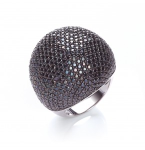 Valentina Black Cocktail Ring