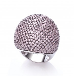 Valentina Pink Cocktail Ring