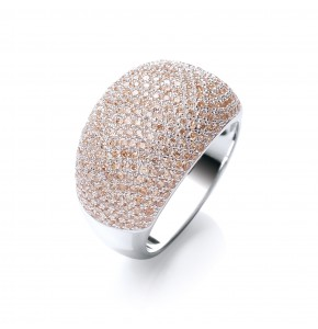 Sabrina Champagne Cocktail Ring