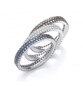 Antonia Three Colour Ring Set
