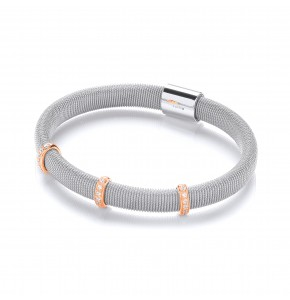 Tanya Rose gold & Silver Bangle