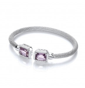 Malin Amethyst Bangle