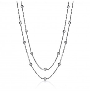 Giovanna Shirelle Ruthenium Plated Necklace