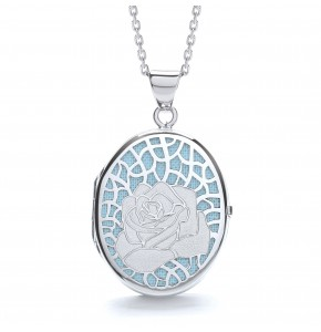 Alice Rose Blue Locket