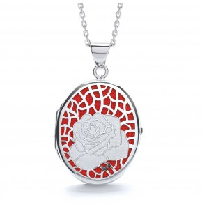 Alice Rose Red Locket