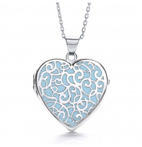 Alice Heart Blue Locket